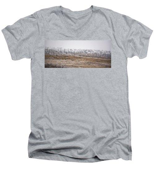 Grazing Elk Men's V-Neck T-Shirt by Ellery Russell