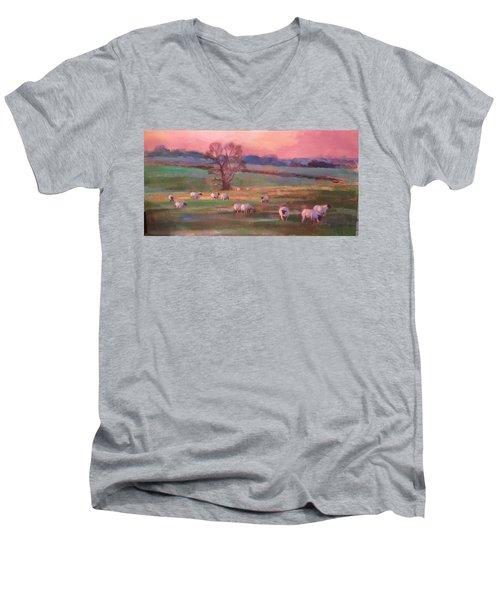 Grazing Sheep Men's V-Neck T-Shirt