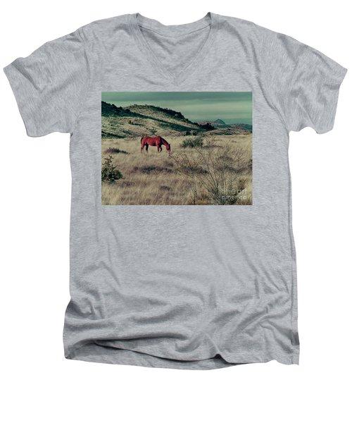 Grazing Solo Men's V-Neck T-Shirt