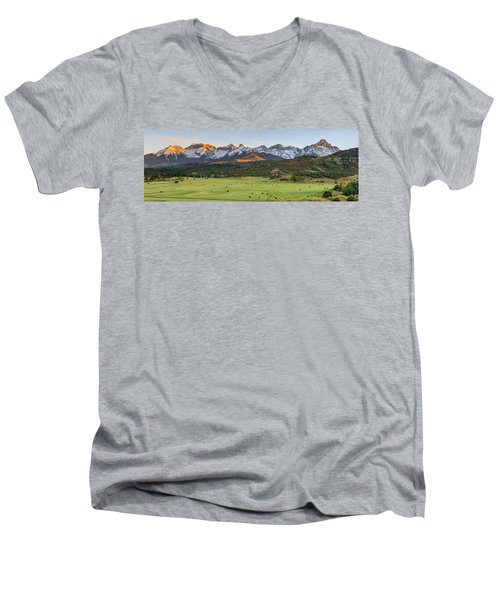 Grazing Under Sneffels Men's V-Neck T-Shirt