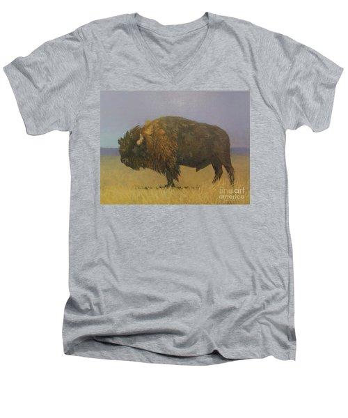 Great American Bison Men's V-Neck T-Shirt