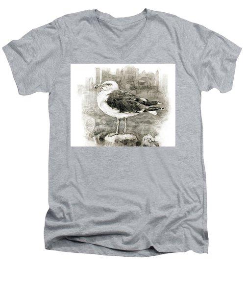 Great Black-backed Gull Men's V-Neck T-Shirt