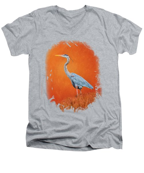 Great Blue Abstract 2 Men's V-Neck T-Shirt