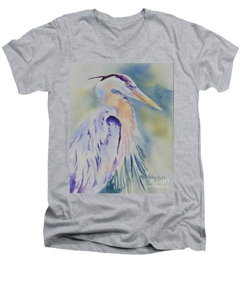 Great Blue Heron Men's V-Neck T-Shirt