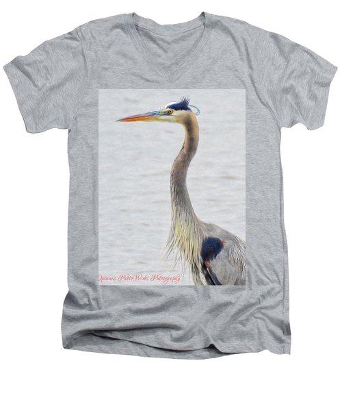 Great Blue Heron Of Virginia Men's V-Neck T-Shirt