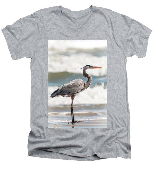 Great Blue Heron Profile Men's V-Neck T-Shirt