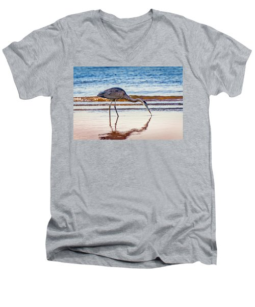 Great Blue Heron Twilight Men's V-Neck T-Shirt