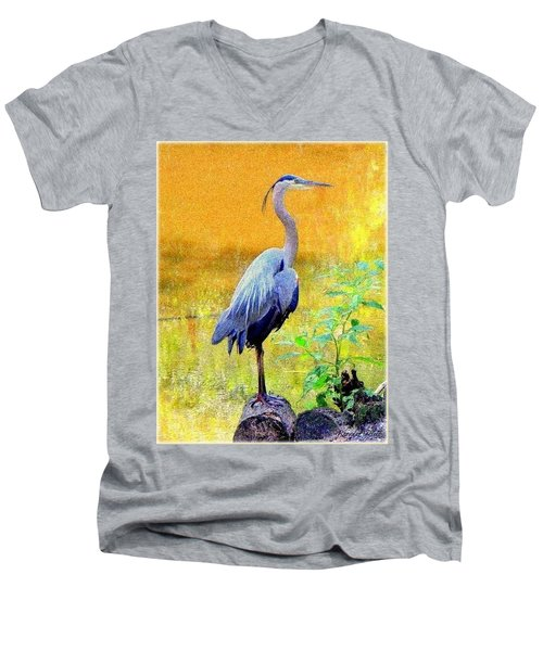 Great Blue Men's V-Neck T-Shirt