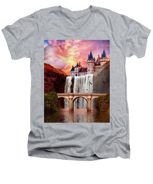 Great Falls Castle Men's V-Neck T-Shirt