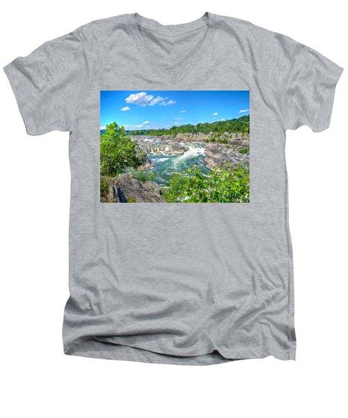 Great Falls On The Potomac Men's V-Neck T-Shirt