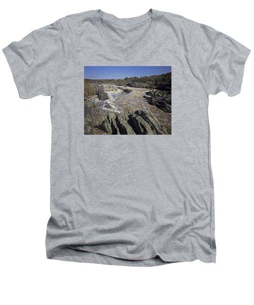 Great Falls Park Va. Men's V-Neck T-Shirt