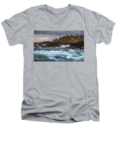 Great Falls Virginia Men's V-Neck T-Shirt