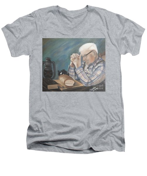 Great Grandpa Men's V-Neck T-Shirt by Jacqueline Athmann