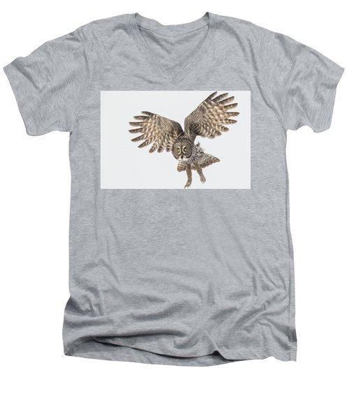 Great Grey Flight  Men's V-Neck T-Shirt