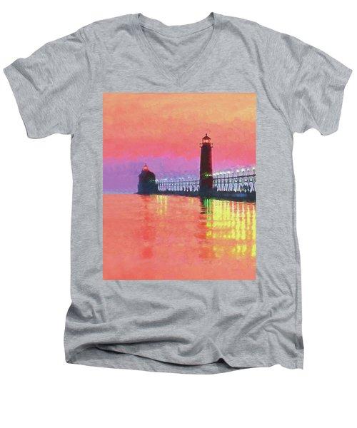 Great Lakes Light Men's V-Neck T-Shirt