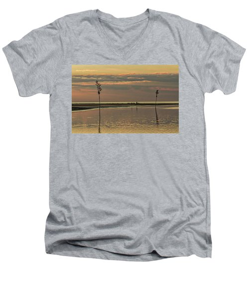 Great Moments Together Men's V-Neck T-Shirt by Patrice Zinck