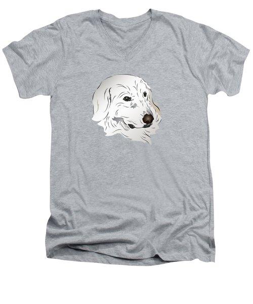 Great Pyrenees Dog Men's V-Neck T-Shirt