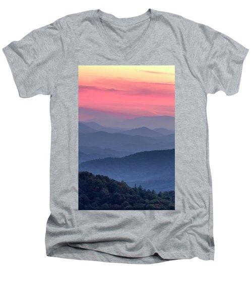 Great Smoky Mountain Sunset Men's V-Neck T-Shirt