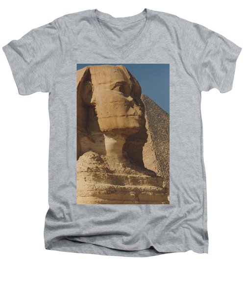 Great Sphinx Of Giza Men's V-Neck T-Shirt