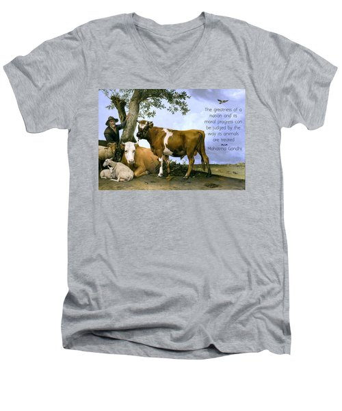 Greatness Of A Nation Men's V-Neck T-Shirt