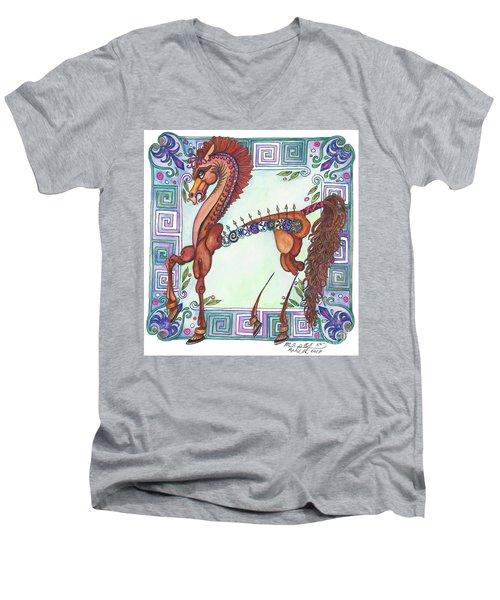 Greek Gift Right Men's V-Neck T-Shirt by Melinda Dare Benfield