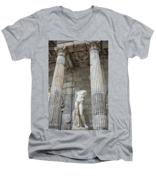 Men's V-Neck T-Shirt featuring the photograph Greek Statue by Patricia Hofmeester