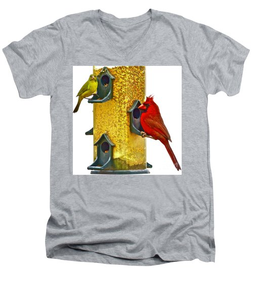 Green And Red  Men's V-Neck T-Shirt