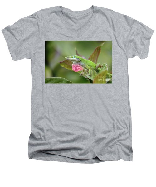Green Anole Men's V-Neck T-Shirt
