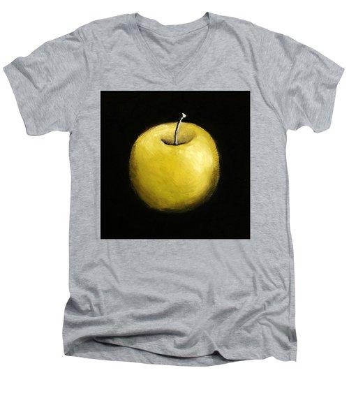 Green Apple Still Life 2.0 Men's V-Neck T-Shirt by Michelle Calkins