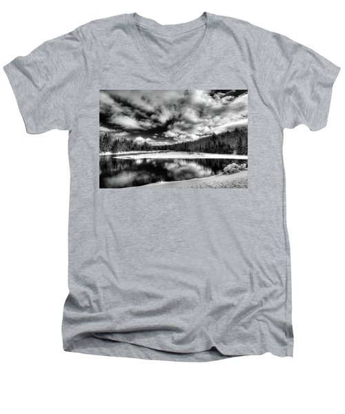Men's V-Neck T-Shirt featuring the photograph Green Bridge Solitude by David Patterson
