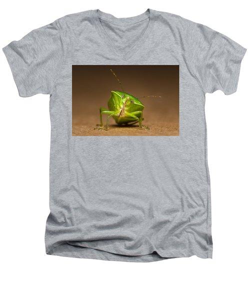 Green Bug Men's V-Neck T-Shirt