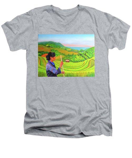 Green Destiny Men's V-Neck T-Shirt