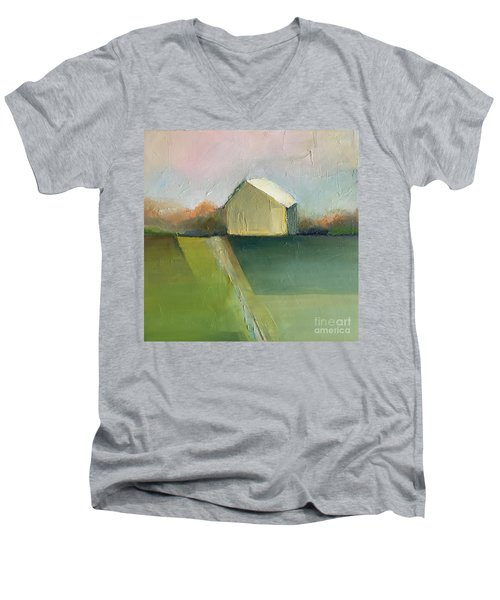 Green Field Men's V-Neck T-Shirt
