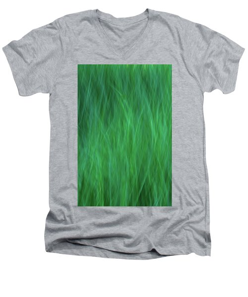 Green Fire 2 Men's V-Neck T-Shirt