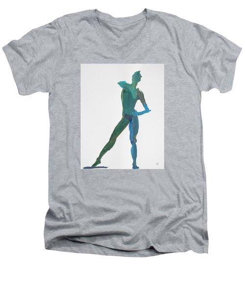 Green Gesture 2 Pointing Men's V-Neck T-Shirt by Shungaboy X