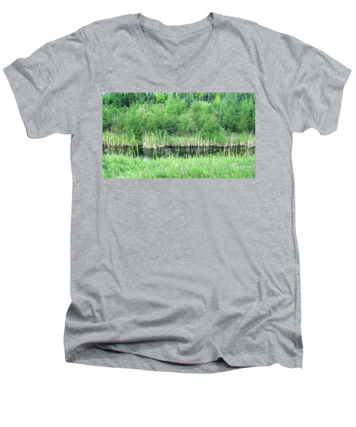 Green Grass Black Water Men's V-Neck T-Shirt