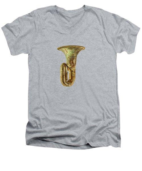 Green Horn Up Men's V-Neck T-Shirt by YoPedro