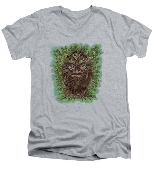 Green Man Of The Forest Men's V-Neck T-Shirt