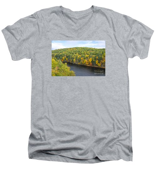 Green Mixture Men's V-Neck T-Shirt