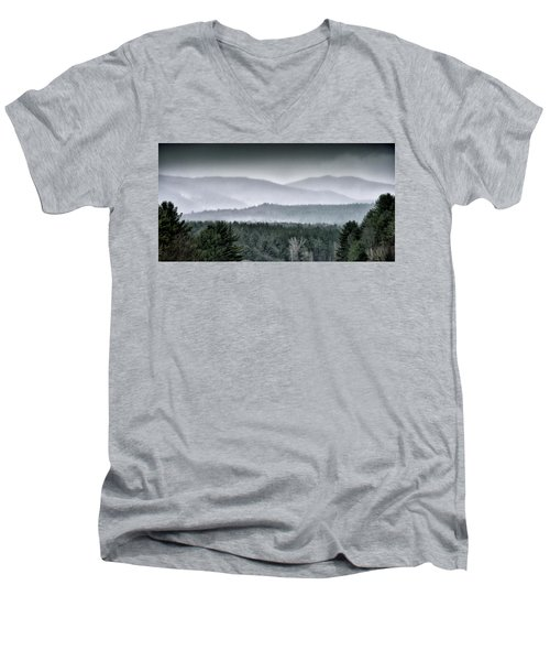 Green Mountain National Forest - Vermont Men's V-Neck T-Shirt by Brendan Reals