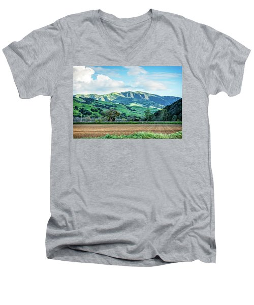 Green Mountains Men's V-Neck T-Shirt