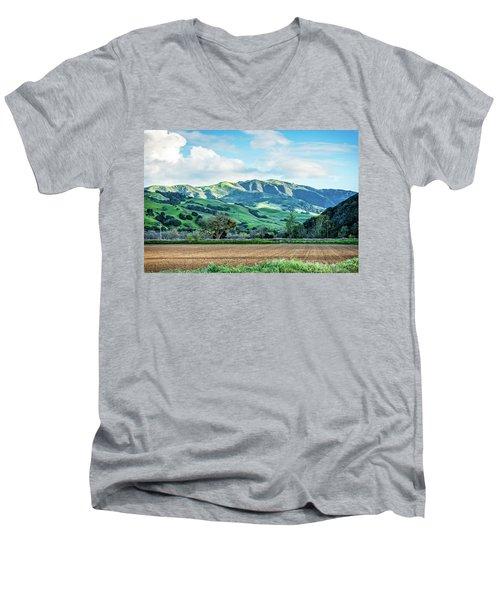 Green Mountains Men's V-Neck T-Shirt