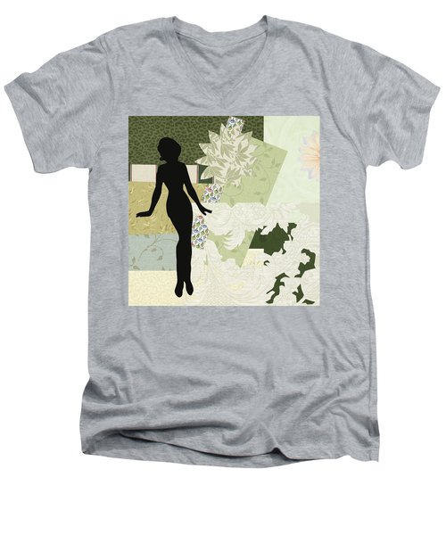 Green Paper Doll Men's V-Neck T-Shirt