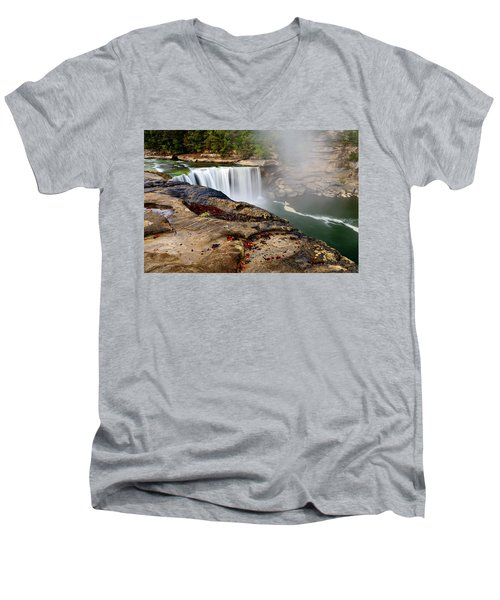 Green River Falls Men's V-Neck T-Shirt