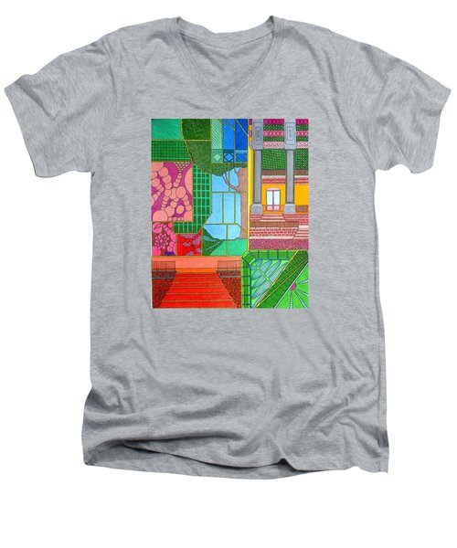 Green Roof Men's V-Neck T-Shirt