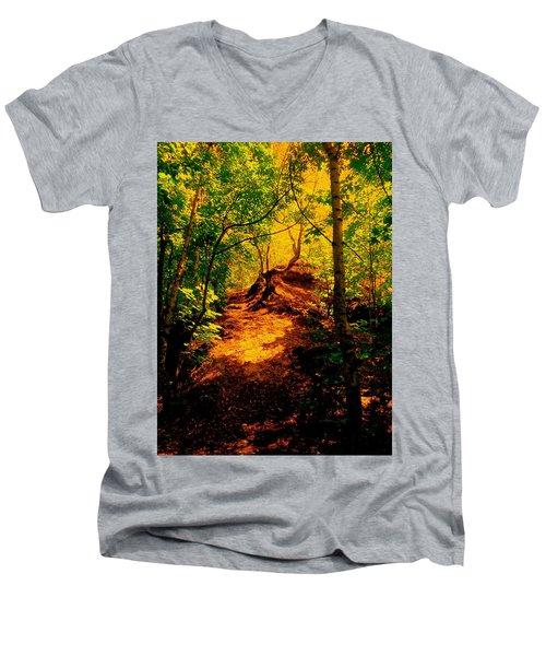 Green Silence Men's V-Neck T-Shirt