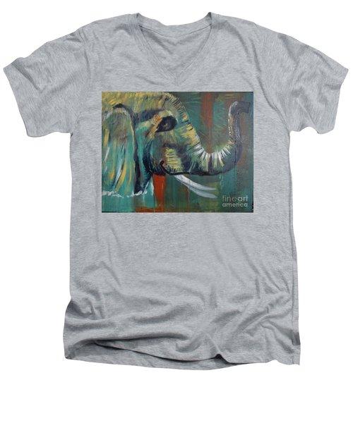 Green Wonder Men's V-Neck T-Shirt by Stuart Engel