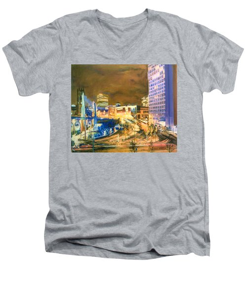 Greengate, Salford, Manchester At Night Men's V-Neck T-Shirt