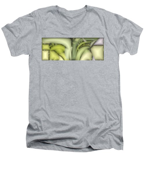Greens Men's V-Neck T-Shirt by Ron Bissett