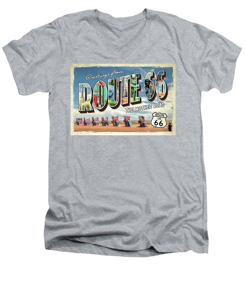 Greetings From Route 66 Men's V-Neck T-Shirt
